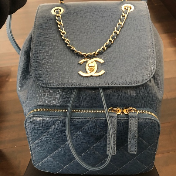676c8ddc7814 CHANEL Bags | Blue Business Affinity Backpack | Poshmark